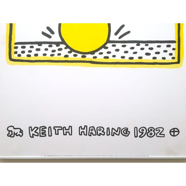 """Rare Vintage """" Keith Haring 1982 """" Original Pop Art Lithograph Print Framed Exhibition Poster For Sale In New York - Image 6 of 11"""