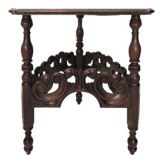 Antique Arts & Crafts Kittinger Trianglular Corner Oak Side Table For Sale