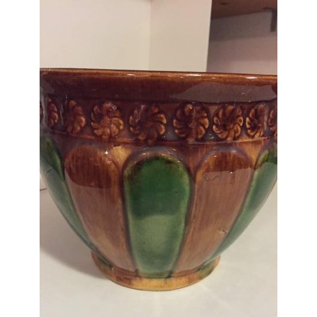 Americana Majolica Vintage Cachepot - medium size For Sale - Image 3 of 6