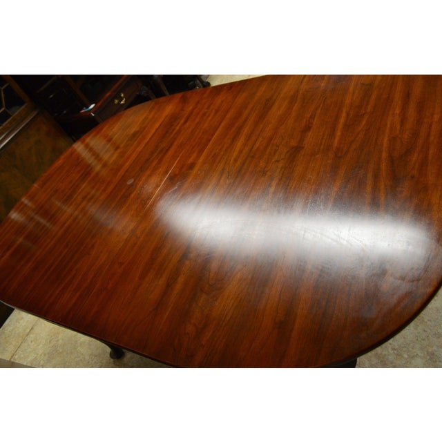 Henkel Harris Solid Cherry Queen Anne Style Dining Table For Sale - Image 9 of 11