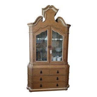 Country Jonathan Charles William Yeoward Oak China Cabinet For Sale