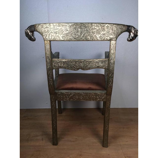 Anglo-Indian Ram's Head Armchair For Sale - Image 4 of 7
