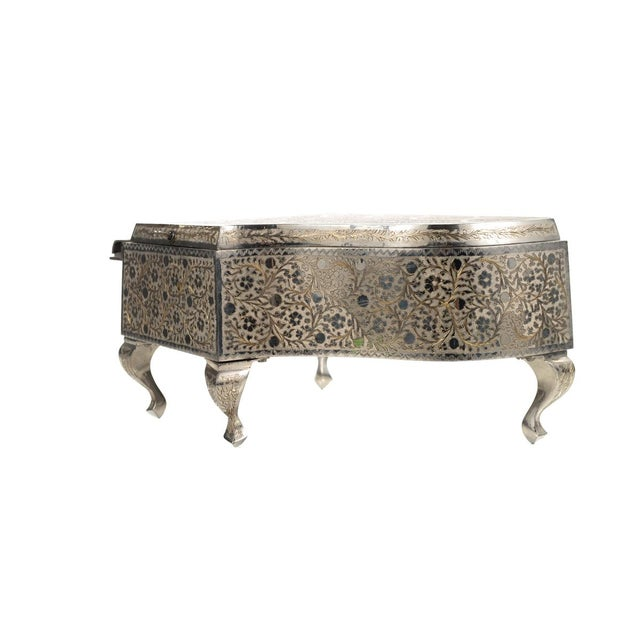 Mid 19th Century Zimbalist Silver Plated Grand Piano Swiss Music Box For Sale - Image 5 of 9