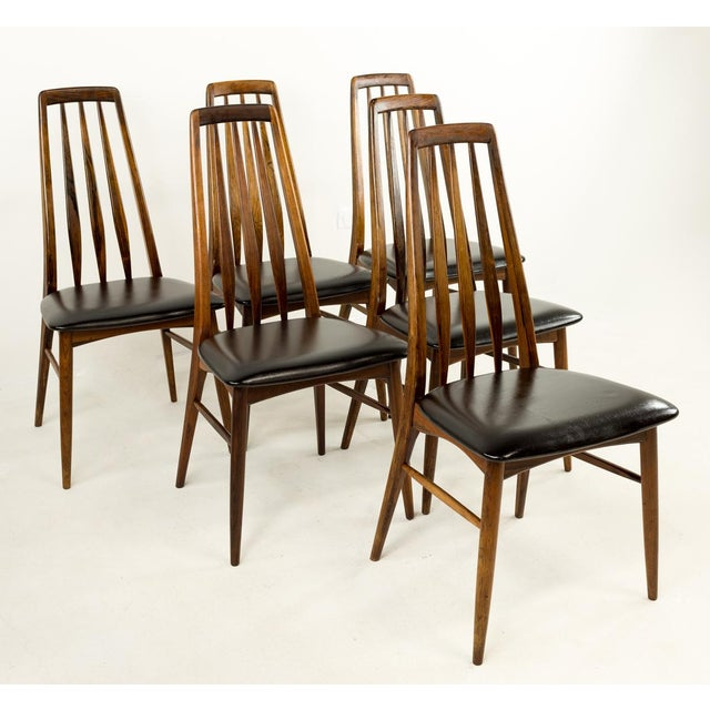 Mid-Century Modern Niels Koefoed Hornslet Rosewood Eva Dining Chairs - Set of 6 For Sale - Image 12 of 12