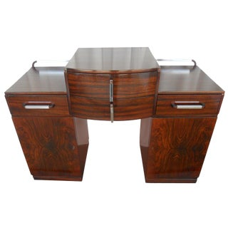 Versatile Art Deco Console or Commode With Drawers For Sale