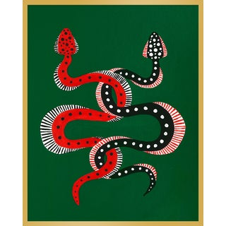 """Medium """"Sushi & Cheeseburger the Snakes"""" Print by Willa Heart, 32"""" X 40"""" For Sale"""