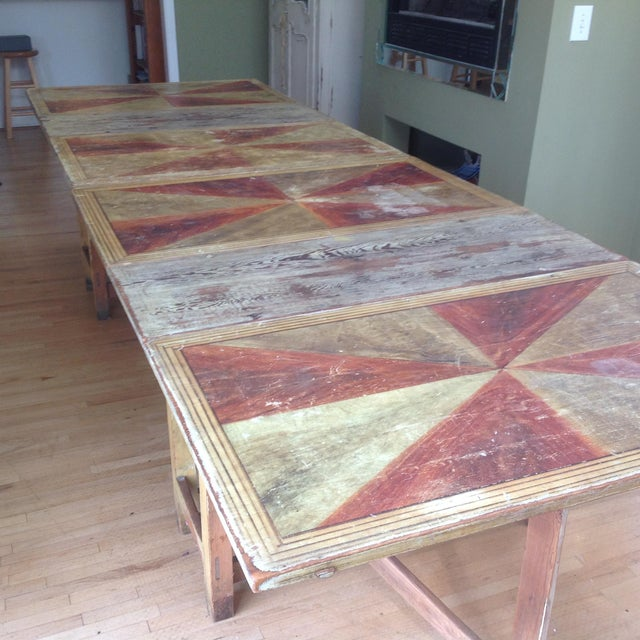 Gold & Amber Gustavian Dining Table - Image 4 of 9