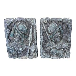 Plaster Sculpture Conquistadors - A Pair