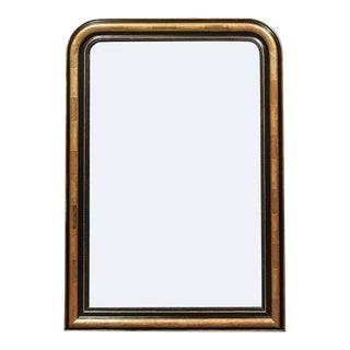 French Louis-Philippe Style Gilt and Ebonized Wood Mirror from the 1900s