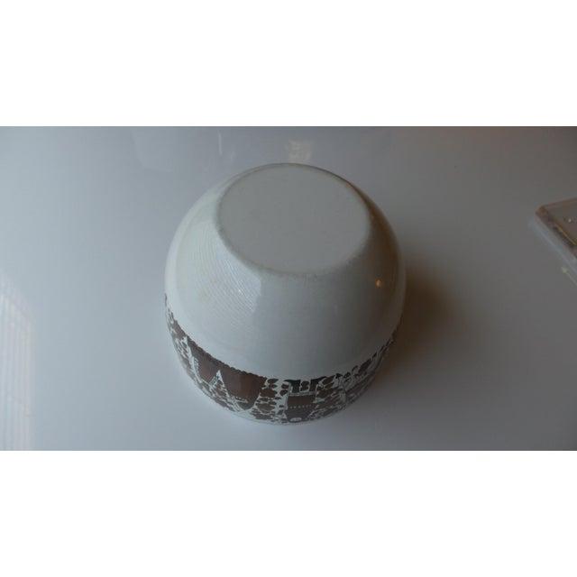 Brown Kaj Franck for Arabia Finland Enamel Metal Bowl For Sale - Image 8 of 11
