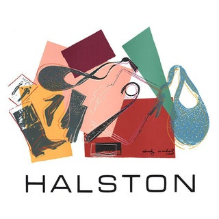 Andy Warhol-Halston-1982 Serigraph For Sale