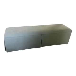 Kravet Select Blue Upholstered Bench For Sale