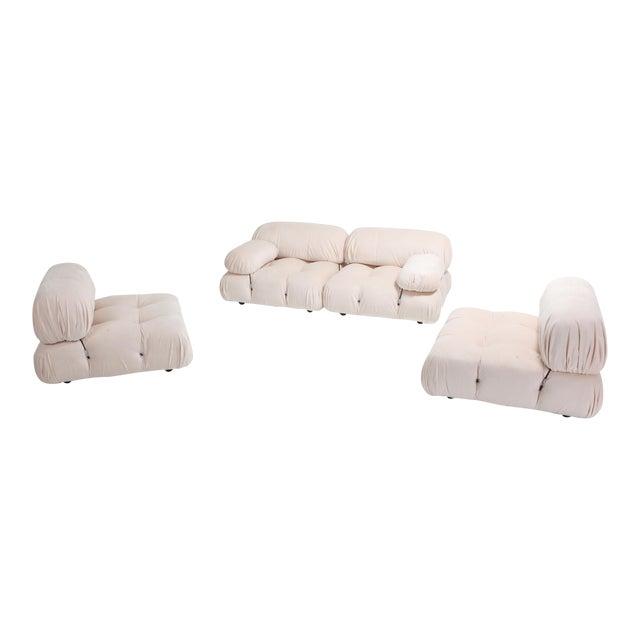 Mario Bellini Nude Rose Velvet 'Camaleonda' Sectional Sofa - 1970s For Sale
