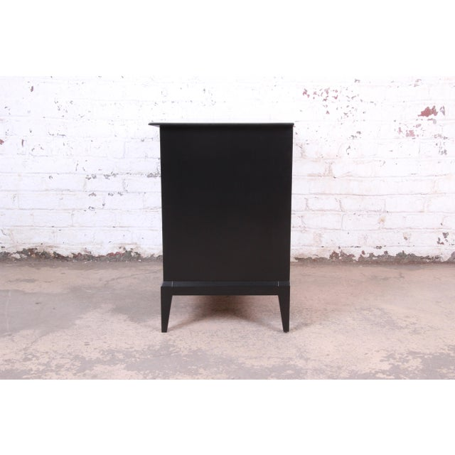Paul McCobb Style Ebonized Mid-Century Modern Compact Credenza by Heywood Wakefield For Sale - Image 10 of 13