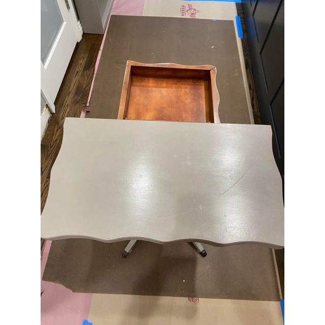 Metal Vintage Traditional Flip Top Pedestal Table For Sale - Image 7 of 13