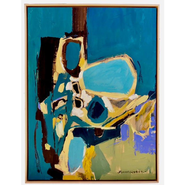1960s Vintage Liang Richardson Oil on Canvas Painting For Sale - Image 4 of 4