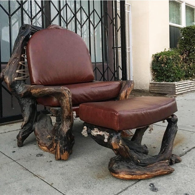 Groovy Handcrafted Live Burl Redwood Armchair By Daryl Stokes Download Free Architecture Designs Scobabritishbridgeorg