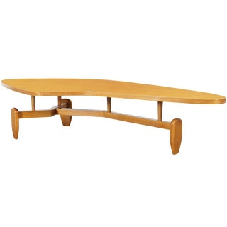 "Vintage ""Outrigger"" Floating Top Coffee Table by John Keal For Sale"