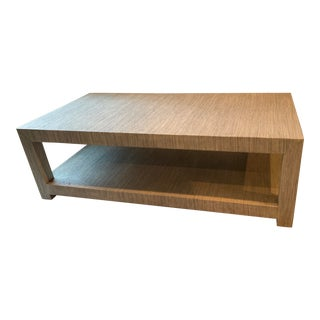 Serena & Lily Blake Raffia Rectangular Coffee Table For Sale