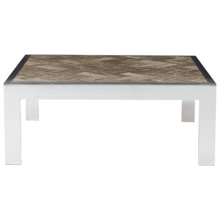 Chrome and Marble Cocktail Table by Leon Rosen for Pace For Sale