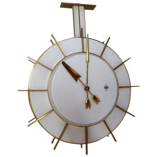 Large Telenorma Tn Double Faced Station or Factory Clock For Sale
