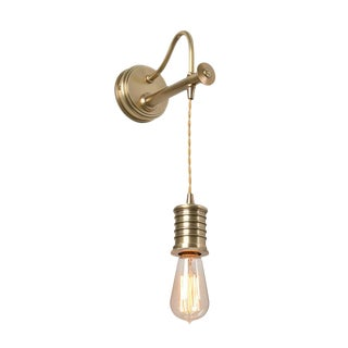 Douille Brass Adjustable Wall Sconce