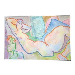 Original May Bender Female Nude Abstract Painting For Sale