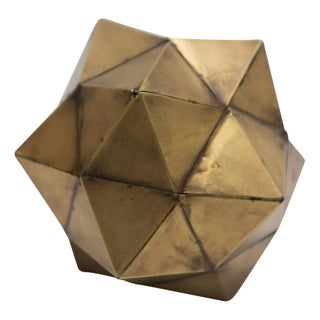 Brass Dodecahedron Object For Sale