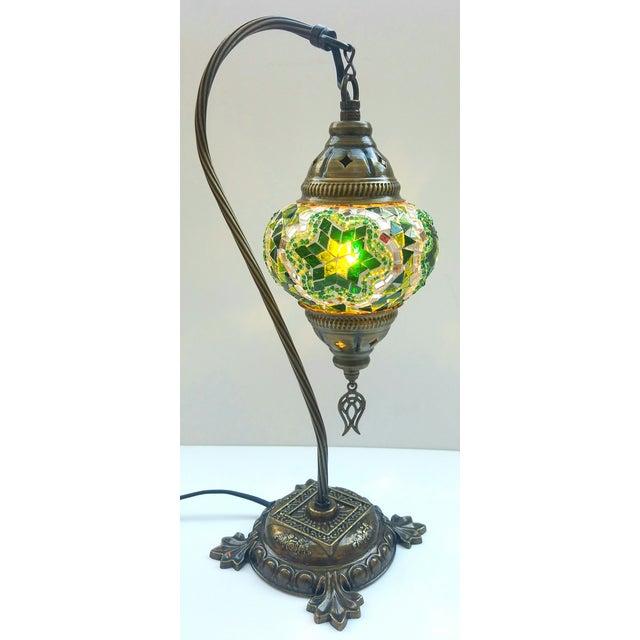 Star of David Mosaic Pendant Table Lamp - Image 3 of 5