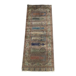 "19th Century Antique Turkish Saph Runner - 2'11"" x 5'10"" For Sale"