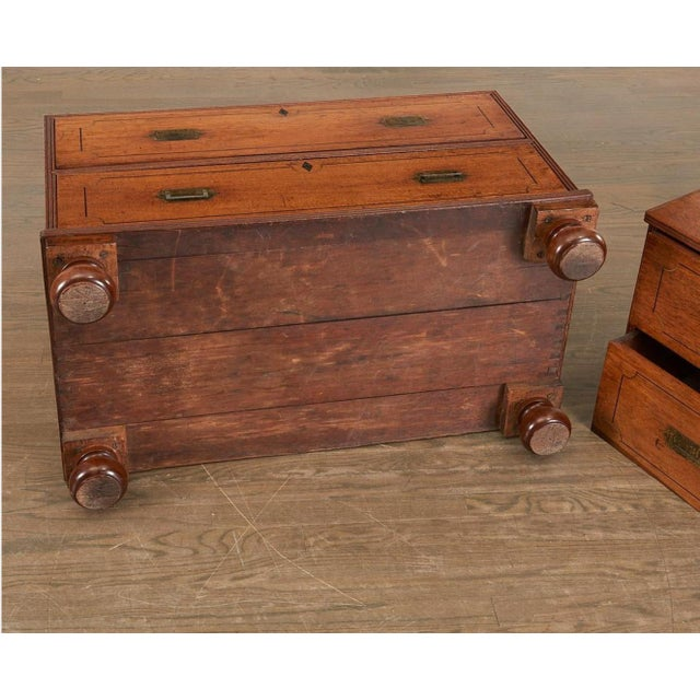 19th Century Brass Inlaid Campaign Chest For Sale In Tampa - Image 6 of 8