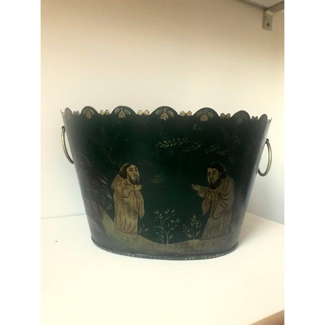 Painted Tole Cachet-Pot For Sale - Image 10 of 11