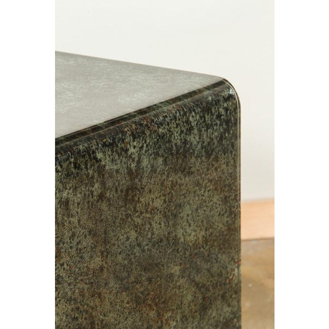 Waterfall Reverse Painted Glass Side Table - Image 3 of 6