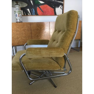 Vintage Mid Century Chrome Swivel Recliner Preview