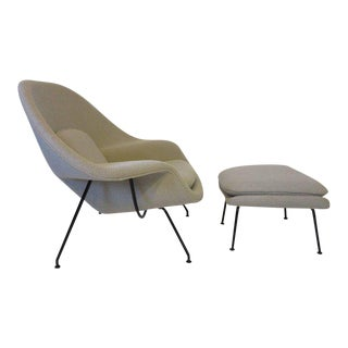 Eero Sarrinen Womb Chair and Ottoman by Knoll