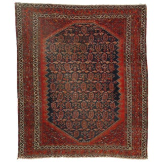 RugsinDallas Antique Persian Malayer - 4′10″ × 5′6″ For Sale