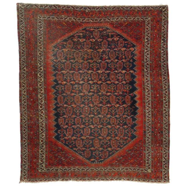 RugsinDallas Antique Persian Malayer - 4′10″ × 5′6″ - Image 1 of 2