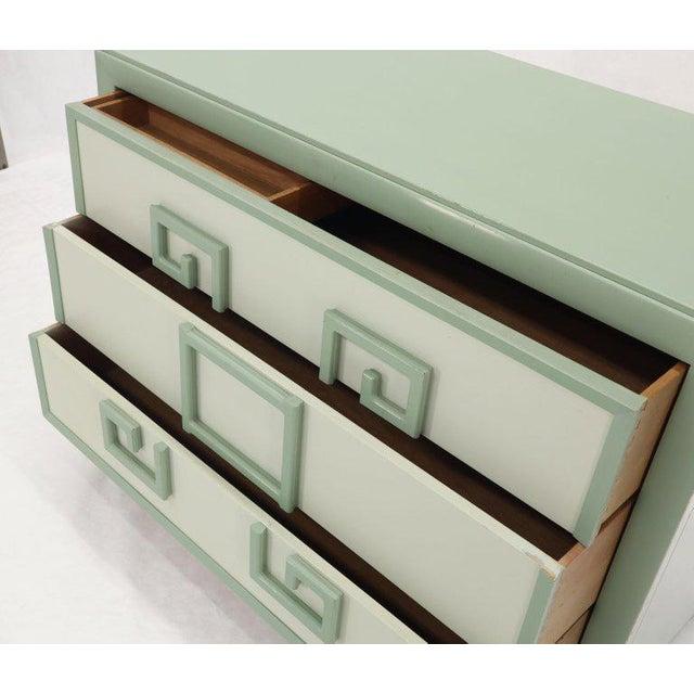 Kittinger Mandarin Style Bachelor Chest Dresser Blue and White Lacquer For Sale - Image 11 of 12