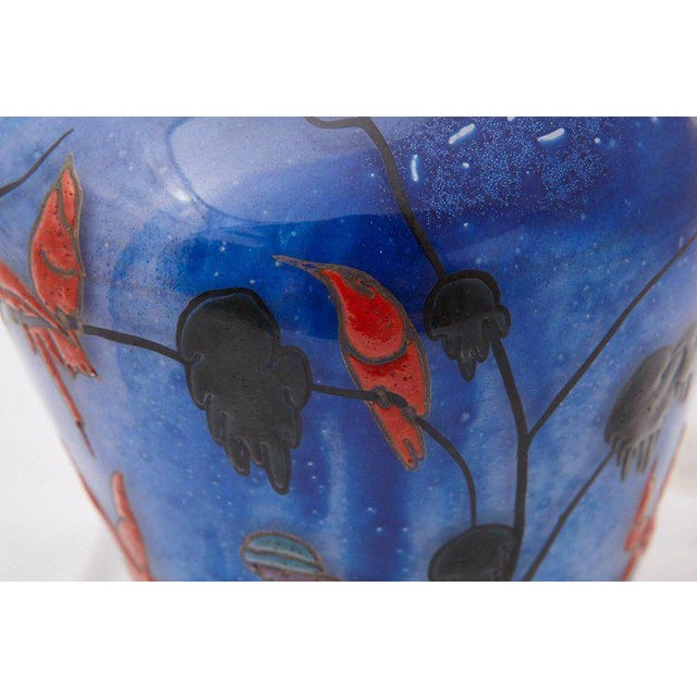 1925 Marcel Goupy Enameled Glass Vase With Three Nude Women For Sale - Image 4 of 10