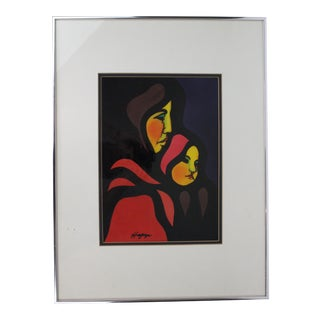 Original Oil Painting on Clay Paper by Hagop Chakrian (1929-2006) For Sale