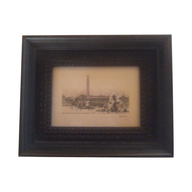 Henri Be'rengier Signed Paris Engraving - Image 1 of 8