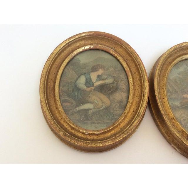 Antique Oval Framed Antique Mezzotints - A Pair - Image 7 of 9