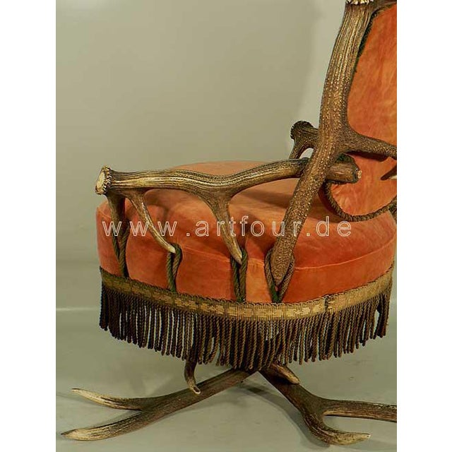 Antler Easy Chair Austria Ca. 1880 For Sale - Image 4 of 6