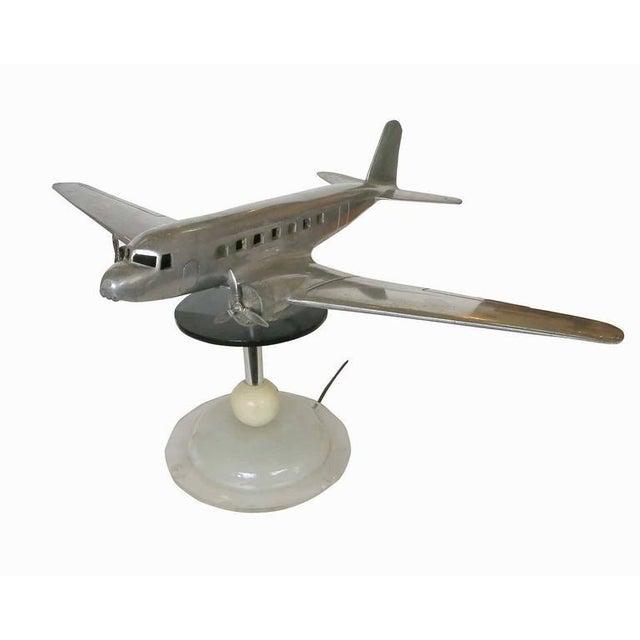 Douglas DC-2 Airplane Aluminum Model Lamp, circa 1934 - Image 2 of 10