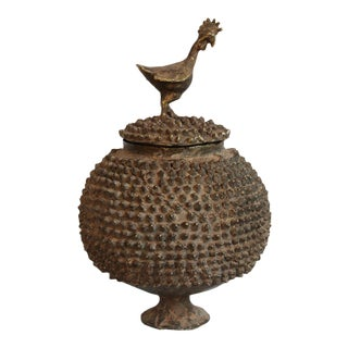 Brass Lobi Pot With Lid For Sale