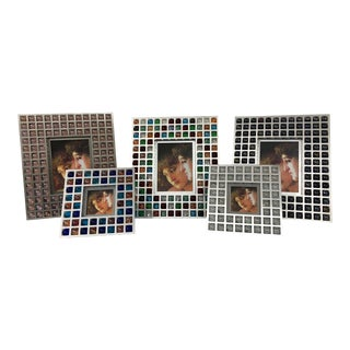 Marble & Stainless Steel Picture Frames - Set of 5 For Sale