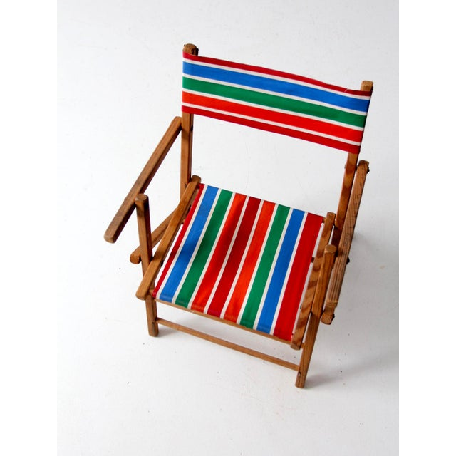 Mid-Century Kid's Folding Chair For Sale - Image 9 of 10