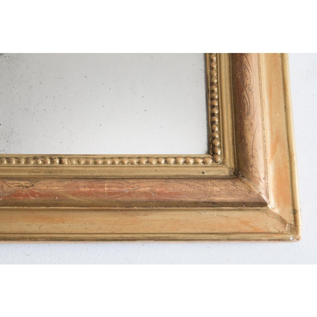 French 19th Century French Louis Philippe Gilt Mirror For Sale - Image 3 of 6