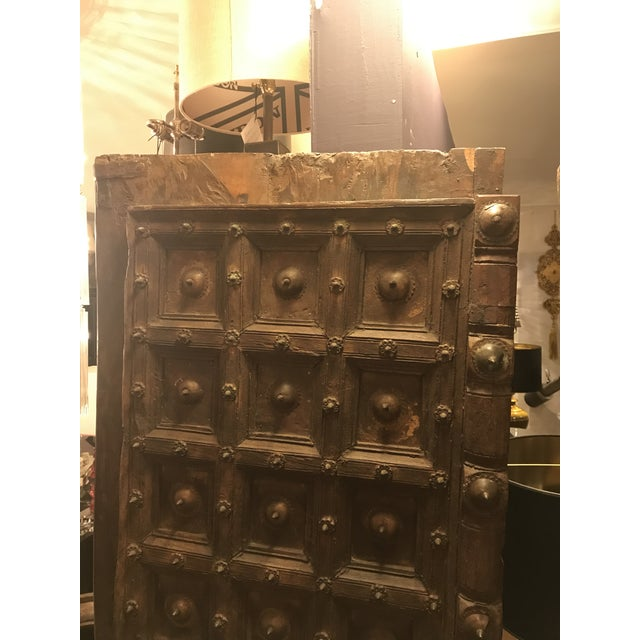 Mid 19th Century Original Antique Salvaged Hand-Made Indian Doors For Sale - Image 5 of 11