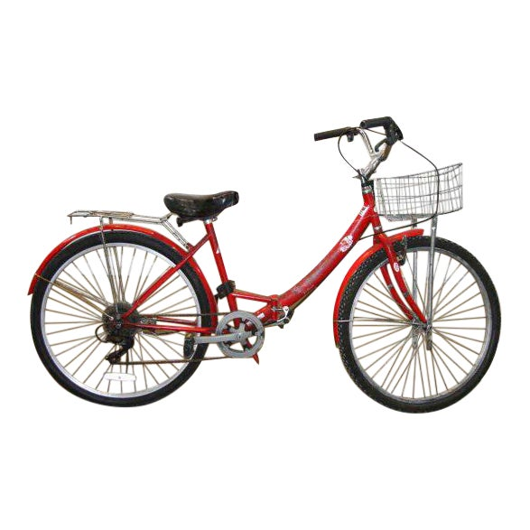 Original Red Strokin Bicycle with Basket - Image 1 of 10